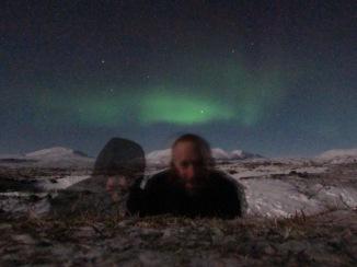 Selfie with the aurora borealis