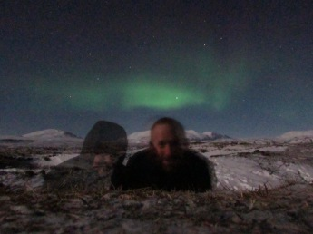 Selfie with the aurora borealis
