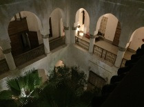 Nighttime in the riad