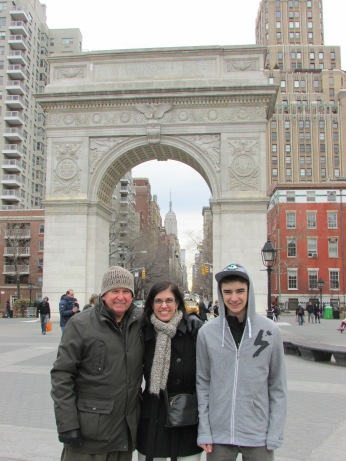 Washington Square Park with my uncle and Holden - 2014